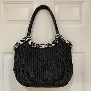 Vera Bradley Straw Bucket Tote Handbag in Fanfare